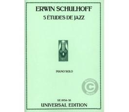 SCHULHOFF E. 5 ETUDES DE...