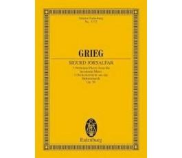 GRIEG SIGURD JORSALFAR Op. 56