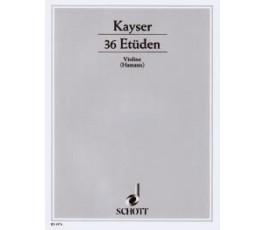 KAYSER 36 ETUDEN OP 20 VIOLIN