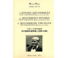 MOYSE M. 25 ETUDES...