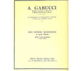 GABUCCI A. DIX ETUDES MODERNES