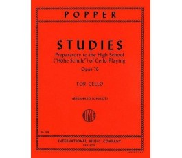 POPPER STUDIES OP 76 FOR CELLO