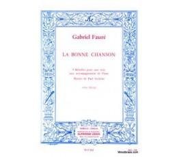 FAURE G. LA BONNE CHANSON