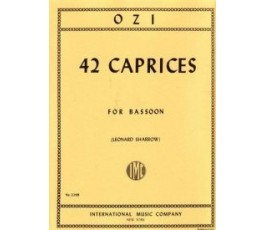 SHARROW 42 CAPRICES FOR BASSON