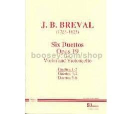 BREVAL SIX DUETTOS OP 19 1 2