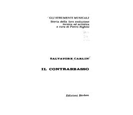 CARLIN S. IL CONTRABBASSO