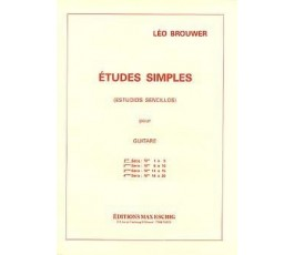 BROUWER ETUDES SIMPLES POUR...