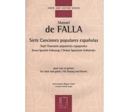 DE FALLA M. SIETE CANCIONES...