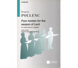 POULENC F. Four motets for...