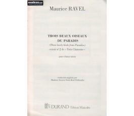 RAVEL M. Trois chansons I...
