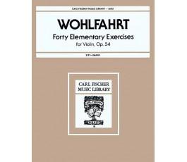 WOHLFAHRT FORTY ELEMENTARY...