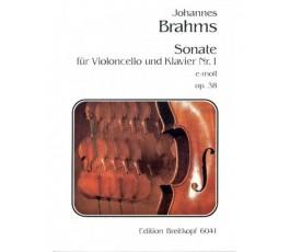 BRAHMS J. SONATE E MOLL OP.38