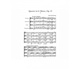 GRIEG E. QUARTET IN G MINOR