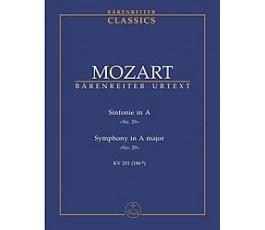MOZART Sinfonie in A Nr. 29...