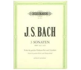 BACH J.S. 3 SONATEN BWV...