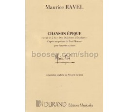 RAVEL M. CHANSON ÈPIQUE
