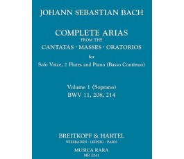 BACH J.S. COMPLETE ARIAS...