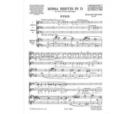 BRITTEN B. MISSA BREVIS IN D