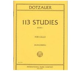 DOTZAUER 113 STUDIES BOOK 1...