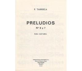 TARREGA F. PRELUDIOS Nº3,4...