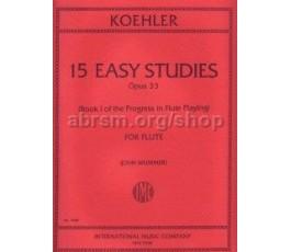 KOHLER E. 15 EASY STUDIES...